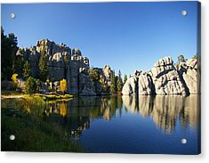 Sylvan Lake, Custer South Dakota Acrylic Print by Karen Cade