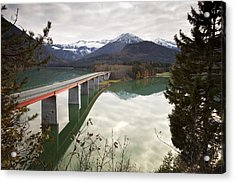 Sylvenstein Lake Acrylic Print by Andre Goncalves