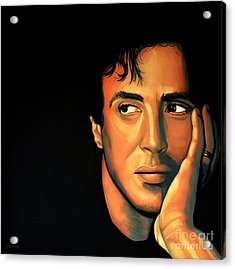 Sylvester Stallone Acrylic Print by Paul Meijering