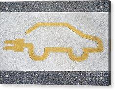 Symbol For Electric Car Acrylic Print