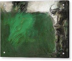 Symbol Mask Painting - 03 Acrylic Print by Behzad Sohrabi