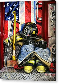 Symbols Of Heroism Acrylic Print by Paul Walsh
