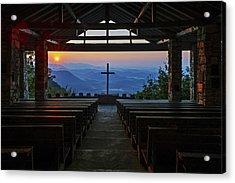 Symmes Chapel Sunrise Aka Pretty Place  Greenville Sc Acrylic Print