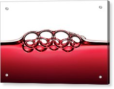 Symmetrical Red Wine Bubbles Acrylic Print