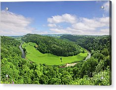 Acrylic Print featuring the photograph Symonds Yat, England by Colin and Linda McKie