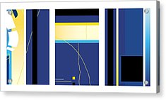 Symphony In Blue - Triptych2 Acrylic Print