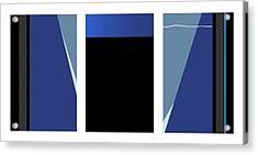 Symphony In Blue - Triptych 3 Acrylic Print