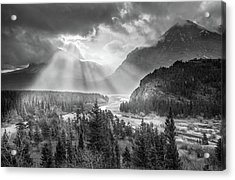 Symphony Of Light // Many Glacier, Glacier National Park Acrylic Print