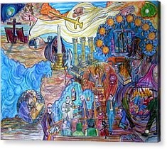 Synagogue Of Satan. Acrylic Print by Richard  Hubal