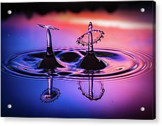 Synchronized Liquid Art Acrylic Print by William Lee
