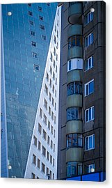 Acrylic Print featuring the photograph Synergy Between Old And New Apartments by John Williams