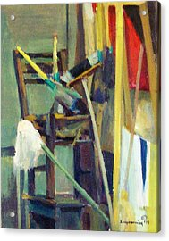 Synthesis With A Chair  Acrylic Print by George Siaba