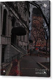 Syracuse At Night Acrylic Print by Debra Millet