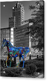 Acrylic Print featuring the photograph Syracuse Horse by Don Nieman