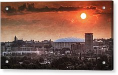 Syracuse Sunrise Over The Dome Acrylic Print by Everet Regal