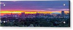 Syracuse Sunrise Panorama Acrylic Print