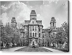 Syracuse University Hall Of Languages Acrylic Print by University Icons