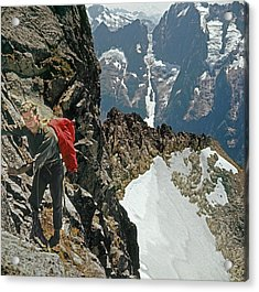 T-04403 Walt Buck Sellers On First Ascent Of Mt. Torment Acrylic Print