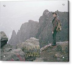 T-04701 Fred Beckey On Mt. Si 1958  Acrylic Print