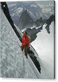 T-202707 Eric Bjornstad On Howser Peak Acrylic Print
