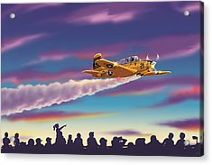 T-34 Night Show Acrylic Print by Barry Munden