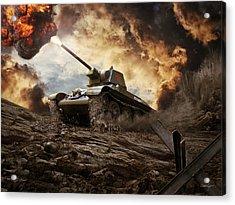 T-34 Soviet Medium Tank Wwii Acrylic Print by Anton Egorov