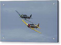 Acrylic Print featuring the photograph T-6 Trainers by Elvira Butler