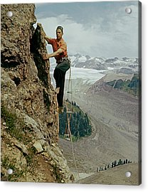 T-902901 Fred Beckey Climbing Acrylic Print