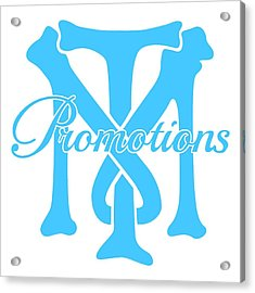 Acrylic Print featuring the drawing T And M Promotions Logo by Nicholas Grunas