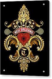 T-fleur-de-lis New Orleans Transparent Back Pick Color Acrylic Print by Bill Campitelle