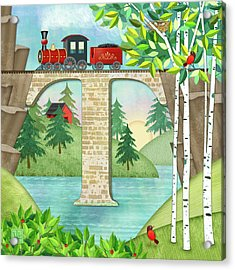T Is For Train And Train Trestle Acrylic Print