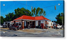 T. R. Lee Service Station Acrylic Print by Doug Strickland