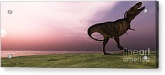 T-rex At Sunrise Acrylic Print by Corey Ford