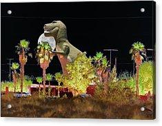 T-rex In The Desert Night Acrylic Print