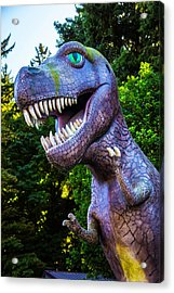 T-rex Oregon Woods Acrylic Print by Garry Gay