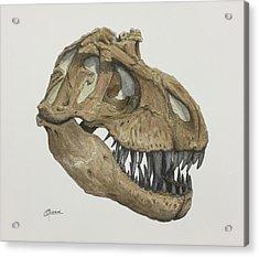 T. Rex Skull 2 Acrylic Print