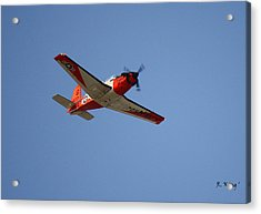 T34 Mentor Trainer Flying Acrylic Print