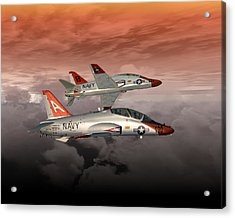 T45 Kiss-off Acrylic Print by Mike Ray
