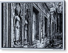 Acrylic Print featuring the photograph Ta Phrom Cambodia by Kathy Adams Clark