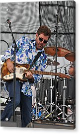Tab Benoit Plays His 1972 Fender Telecaster Thinline Guitar Acrylic Print