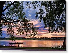 Table For Four With A View Acrylic Print