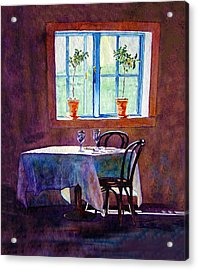 Table For Two Acrylic Print by Gail Chandler