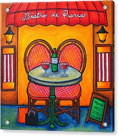 Table For Two In Paris Acrylic Print