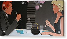 Table For Two Acrylic Print by Varvara Stylidou