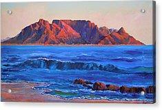 Table Mountain Aglow Acrylic Print