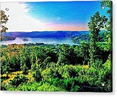 Table Rock Lake Acrylic Print by John Derby