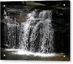Table Rock South Carolina Water Fall Acrylic Print by Diane Frick