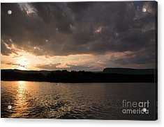 Table Rock Sunset Acrylic Print