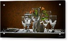 Acrylic Print featuring the photograph Table Setting by Joe Bonita