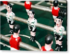 Table Soccer Acrylic Print by Gaspar Avila